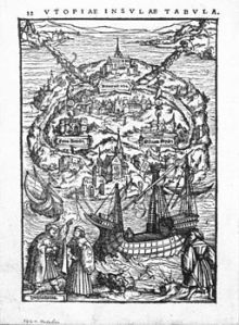 The Island of Utopia by Ambrosius Holbein